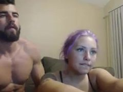 Hot couple fucks on webcam.My X-mas live webcam show: 4xcams.com