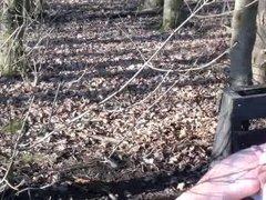 SandrotheBest in Forest cumshot outdoor public