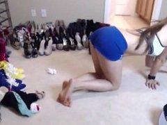 Girl masturbating during packing..My X-mas live webcam show: 4xcams.com