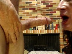 dildo slut fucks a dildo and sucks a cock