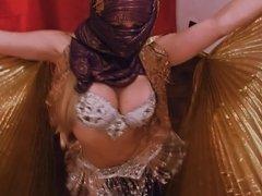 Bubble-Butt Busty Blonde Playing Odalisque! Amazing Body!
