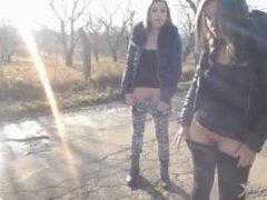 2 GIRLS WEBCAM NAKED PUBLIC STREET - PART II