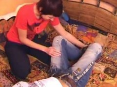 SUPER TICKLISH TEEN IN WHITE SOCKS JANA