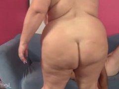 Big boobed mature BBW Lady Lynn From SEEKBBW.NET gets her pussy reamed hard