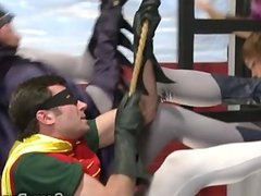 Alexis fucks the bat man in XXX parody