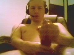 18 Year Old Teen Boy With Huge Cock Jacks Off And Cums On Webcam