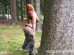 Playing in the woods and fuck arrr livehotpussy com by Alexsisfaye