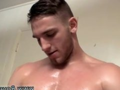Hairless hunks jerk off and cum in their own mouth Jock PIss With Elijah
