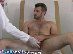 Hairy gay stud receiving physical examination Once his manhood was hard,