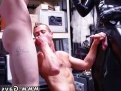 Buff black group gay Dungeon master with a gimp
