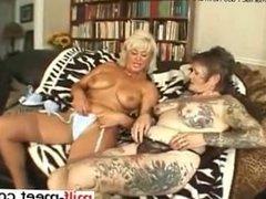 she is at milf-meet.com - Tattooed lesbian granny f