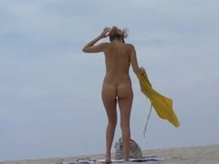 Hot Milf on nudist beach