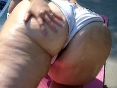 BBW Ursula Gets Oiled Up Part 2