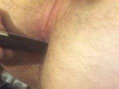 Guy sticks lighter out asshole then lights it