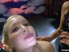 German blonde babe bukkake compilation PMV