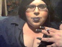 Sissy Diane Glasses Long Nails Smoke