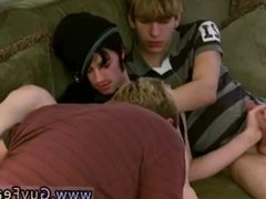 Gay blonde men haircut sex Aron, Kyle and James are hanging out on the