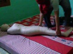 Indonesian Girl Try Egyptian Mummification