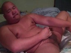 Asian Chub Dildo Wank