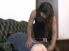 Dominant strict Lady administers discipline