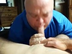 My Str8 cock sucked by CL old man again! Swallow my cum