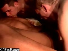 Gay orgy Lucky Boy Gets Two Big Cocks