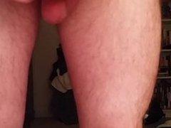 Big cock, quivering leg cumshot