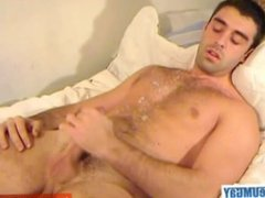 My straight neighbour made a porn: watch him gets wanked by a guy.