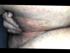 bbw wife playing with her fat hairy wet pussy