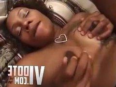 Pregnant Ebony Pussy fucks white dick