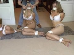 Emma, Emma, and Penny Tightly Tied Up and Tapegagged