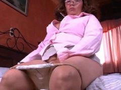What is granny From LOOK4MILF.COM Maribel hiding in her panties
