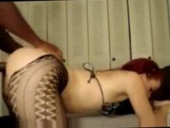 Amateur redhead milf interracial anal