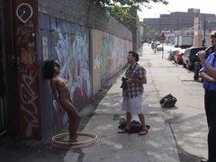 Black Girl Naked in Public Photo Shoot