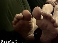 Young hairy chested gay guys with foot fetish Cummy Feet With Str8 Ian