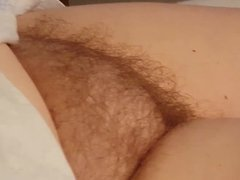 revealing her big whits soft tit & nipple, hairy pussy