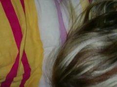 Nachts auf die Haare gewichst