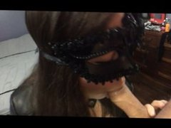 Masked Blow Job & Cum Swallow