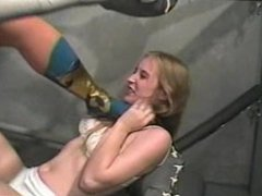 Little blonde vs big woman