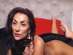 Big Boobs Italian Milf Tease on Webcam