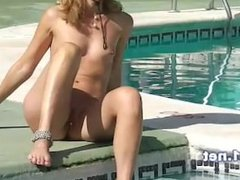 footjob and handjob for cum a big dick at a public pool by naomi1