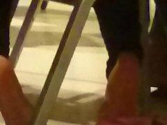 Candid Ebony Feet in College Class