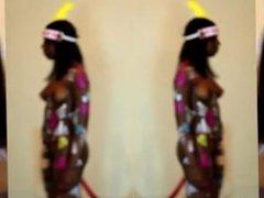 TRIBAL BODY PAINT #2 [EBONX TV] Ebony Nude Body Paint Show
