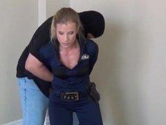 police woman gagged