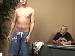 Gay studs fucks  bareback doggy style