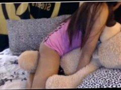 Teddy bear loving beauty