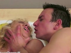 Granny Gets A Hard Dick In Her Arse