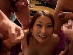 Hot japanese bukkake scene
