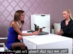 Auditioning eurobabe undresses for hot agent