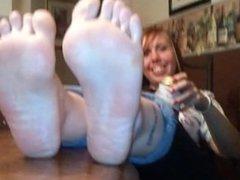 Rachel's first foot shoot